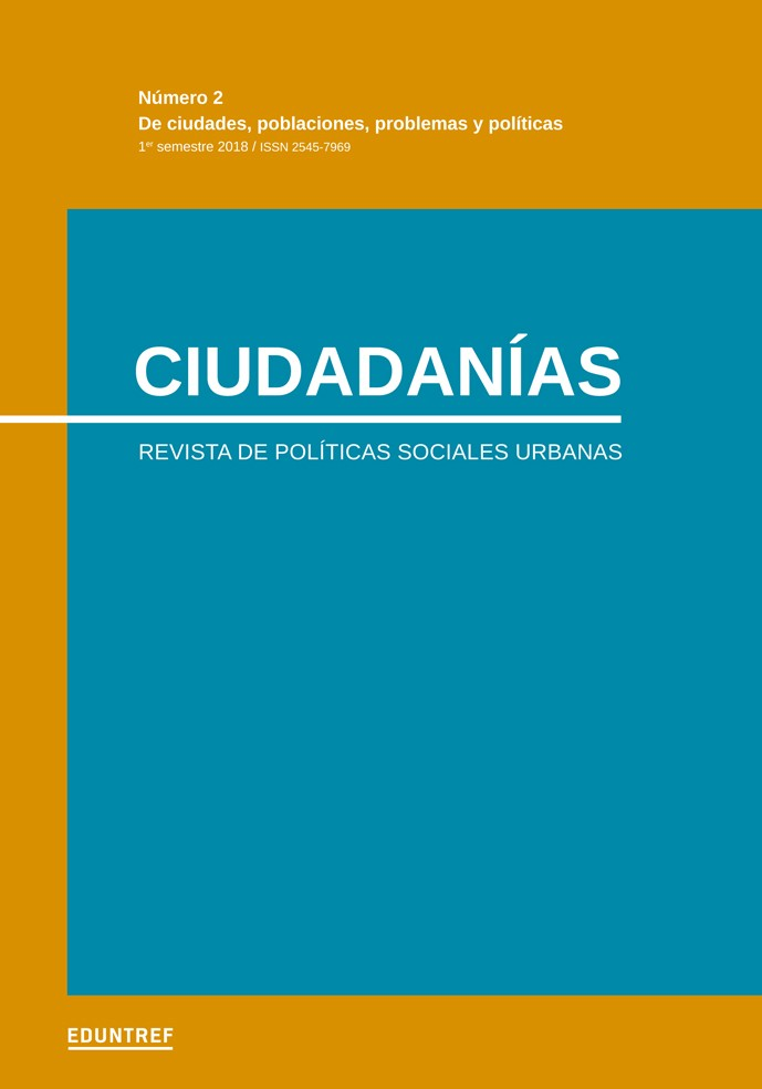 Ciudadanías Nº 2 Revista de Políticas sociales urbanas